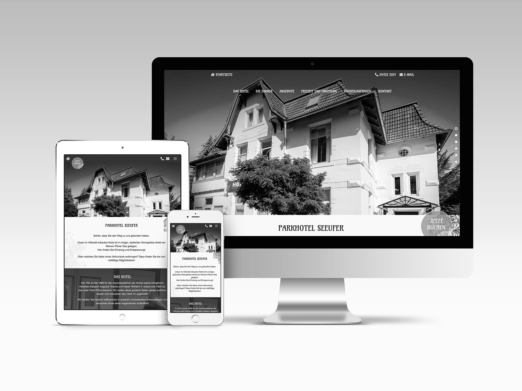 Parkhotel Seeufer Relaunch Website
