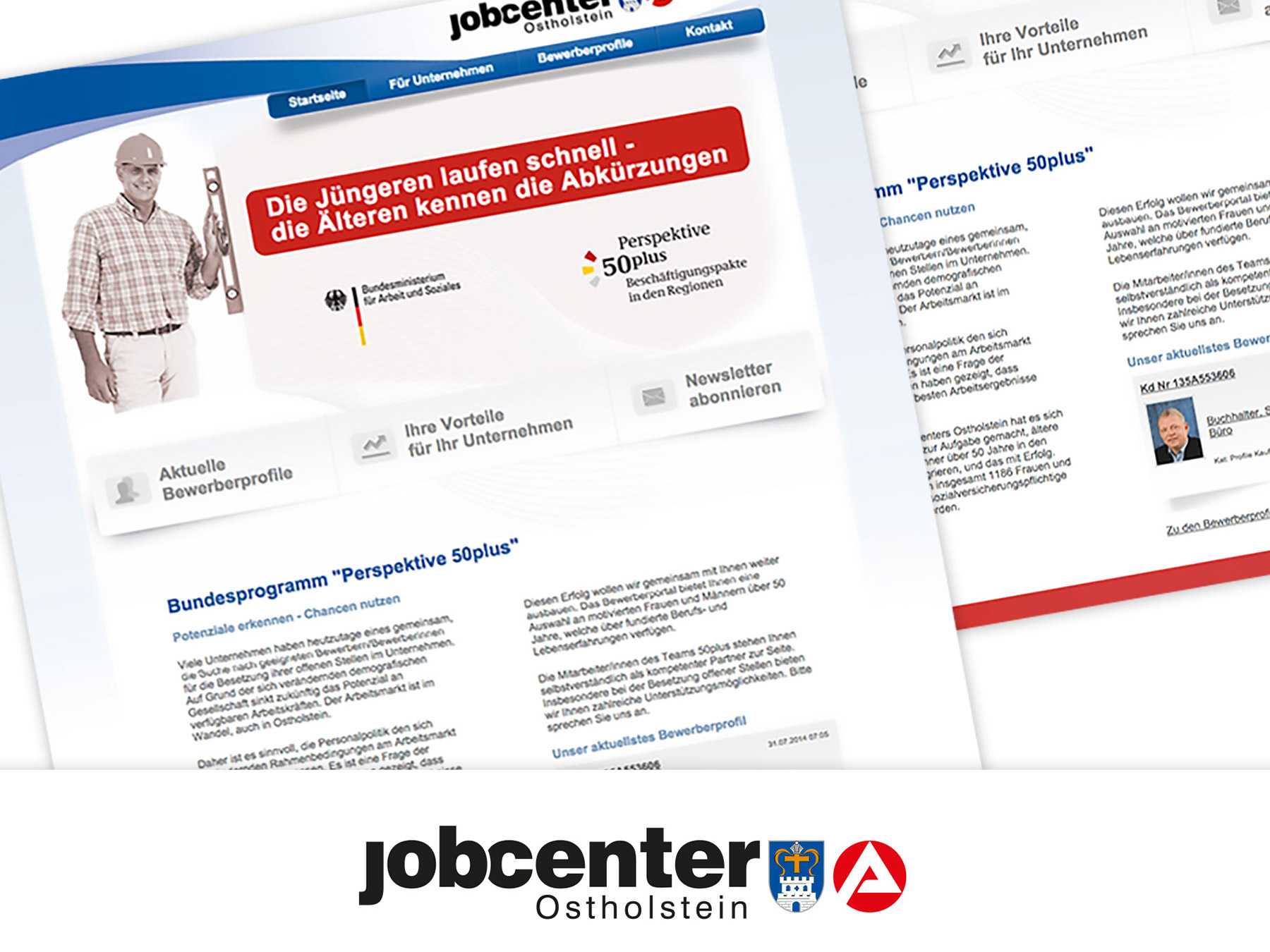 AuD Referenzen Jobcenter Webdesign Ostholstein