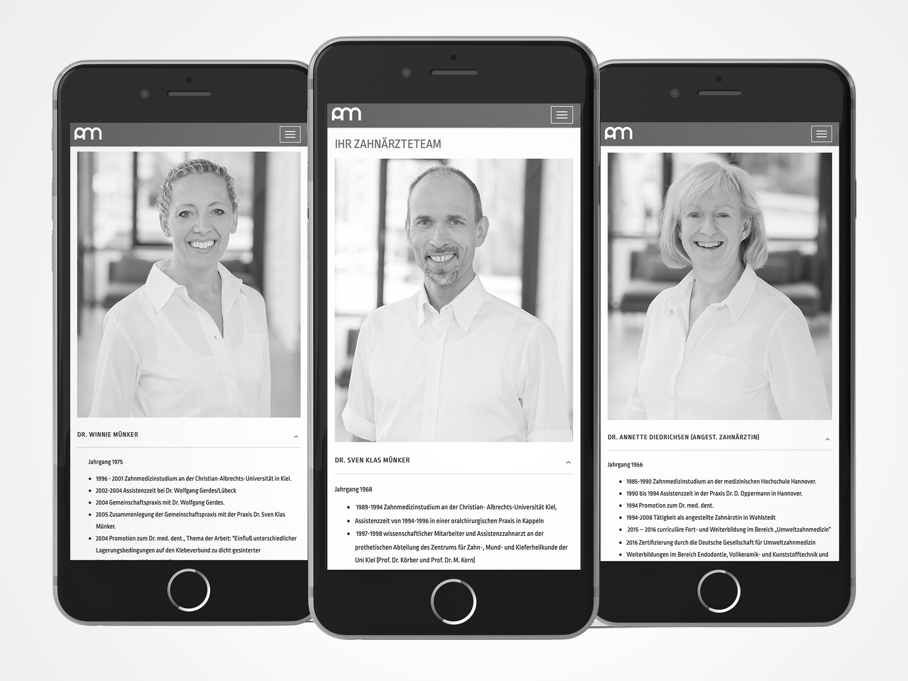 Praxis Dres. Münker Relaunch Webdesign