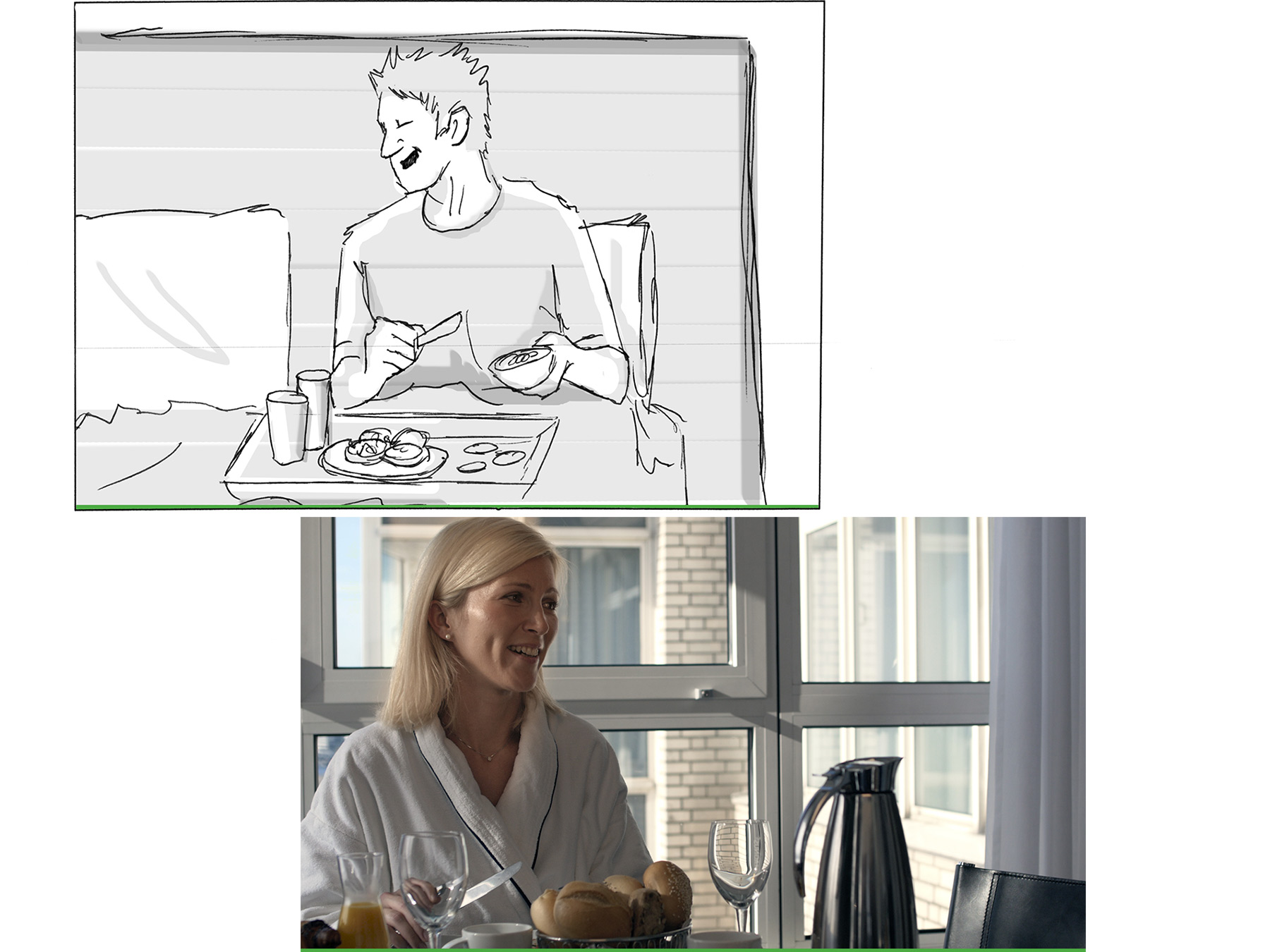 AuD Referenzen Holiday Inn Imagefilm Storyboard
